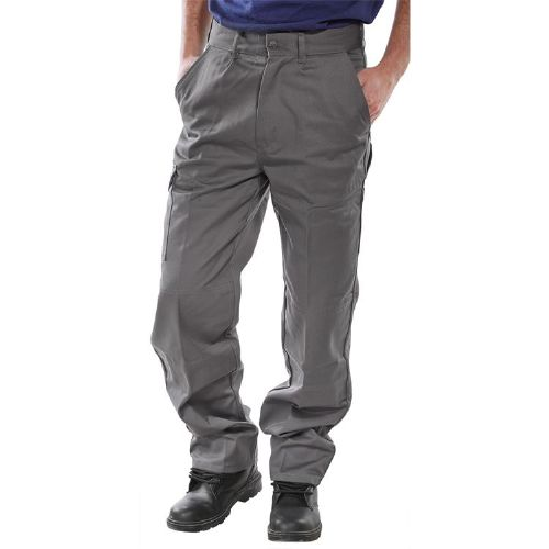 Super Click Heavyweight Grey Drivers Trousers